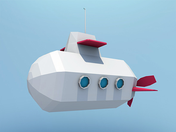 Cartoon Submarine - 3DOcean Item for Sale
