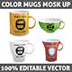 Mugs Mock-up. Vector. - GraphicRiver Item for Sale
