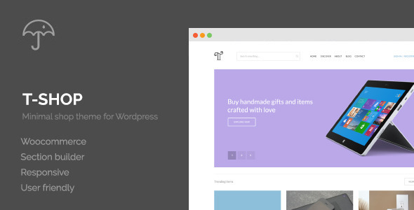 T-Shop — eCommerce WordPress Theme