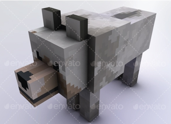 Wolf Minecraft - 3DOcean Item for Sale