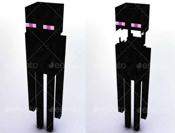 Enderman Minecraft - 3DOcean Item for Sale
