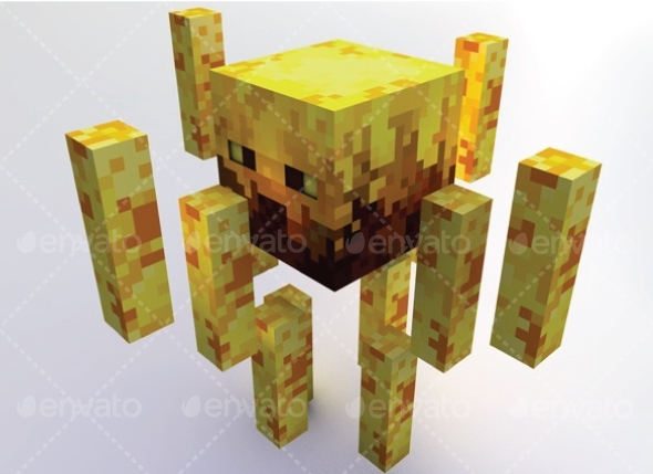 Blaze Minecraft - 3DOcean Item for Sale