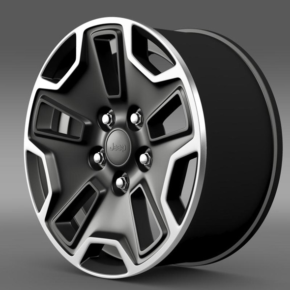 Jeep Wrangler Rubicon rim - 3DOcean Item for Sale