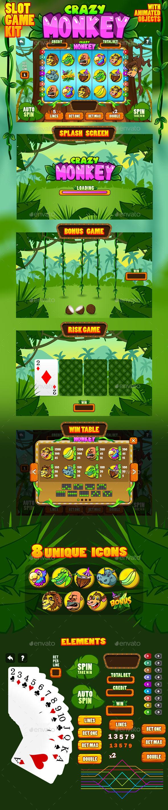 Crazy monkey slot game kit