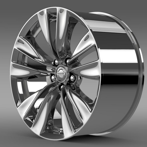 Nissan Fuga rim - 3DOcean Item for Sale