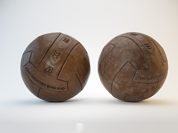 Vintage Soccer/Football Ball - 3DOcean Item for Sale