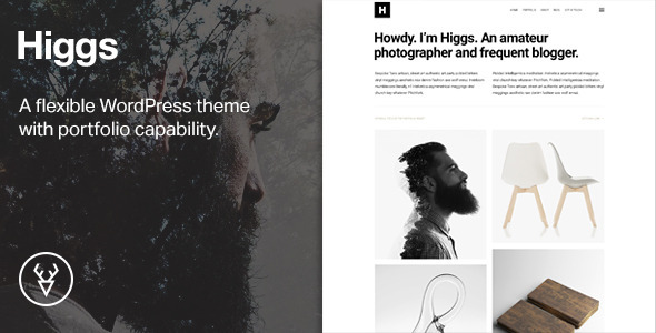 Higgs — A Minimal WordPress Portfolio & Blog Theme
