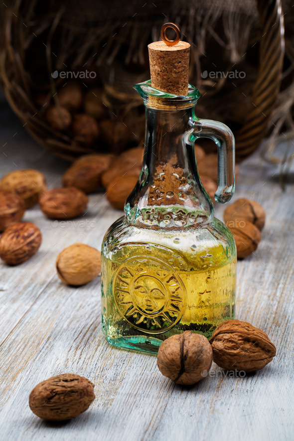 Walnut Oil - Stock Photo - Images
