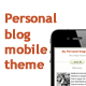 Personal blog mobile template - ThemeForest Item for Sale