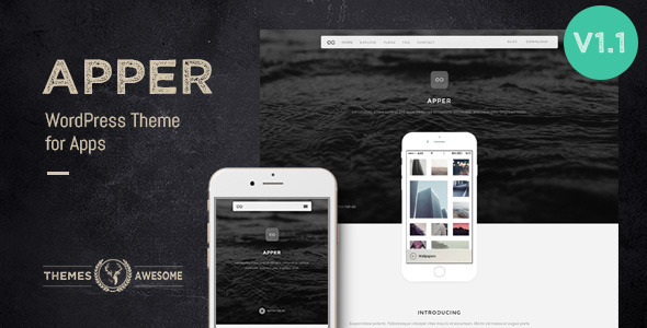 Apper – WordPress Theme for Apps