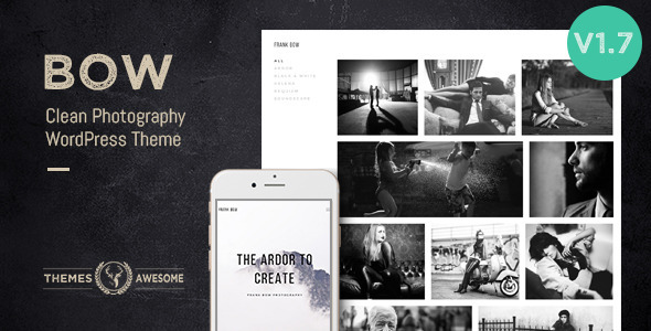 Bow – Clean Photography Portfolio Theme
