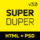 SuperDuper | HTML5 Template Responsive - ThemeForest Item for Sale