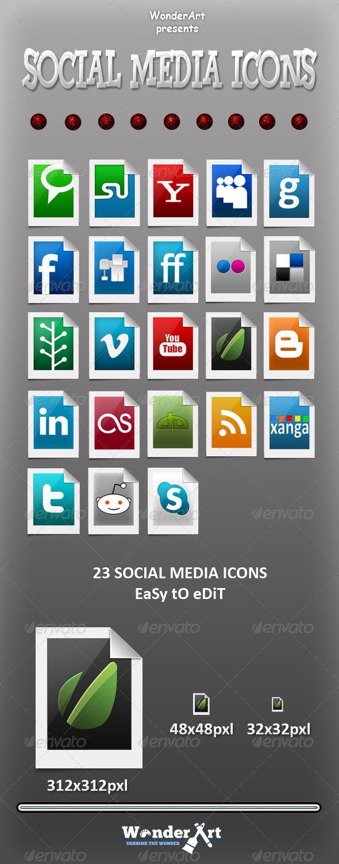 Social Media Icons - Web Icons