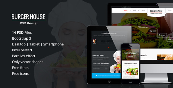 Burger House – Responsive PSD Theme