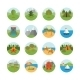 Tourism And Nature Icon Set