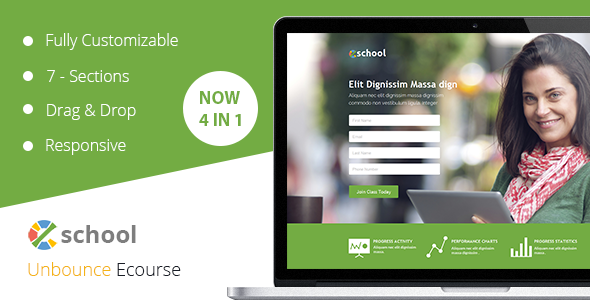 eSchool Unbounce Template