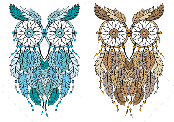 Dream Catcher Owl - Animals Characters