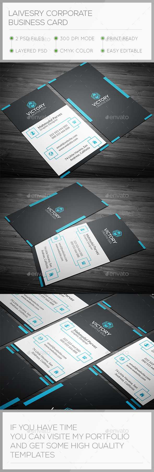 Laivesry Corporate Business Card - Corporate Business Cards
