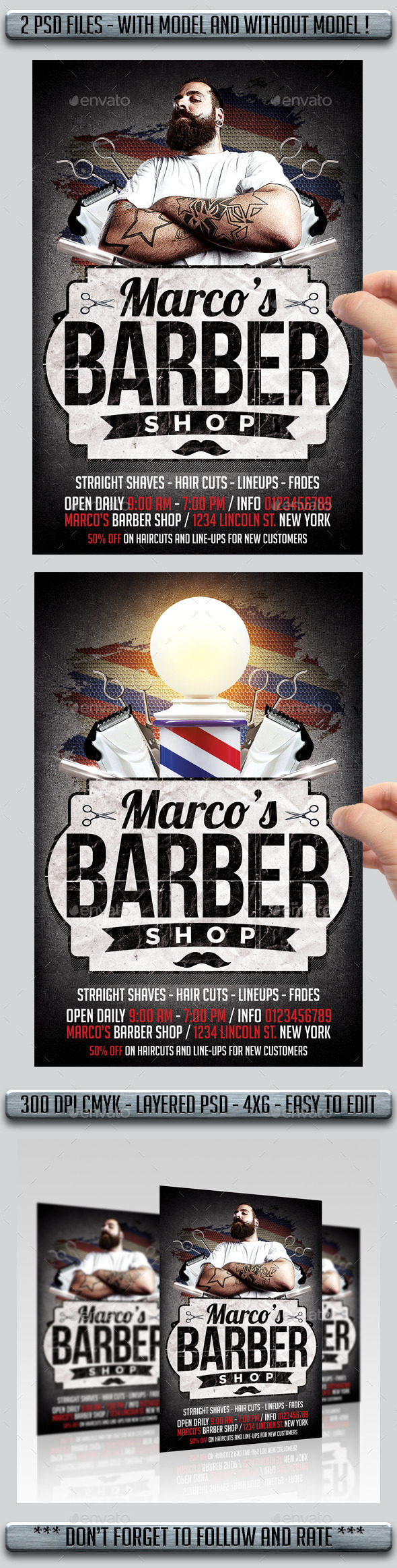 barbershop flyer flyers print templates