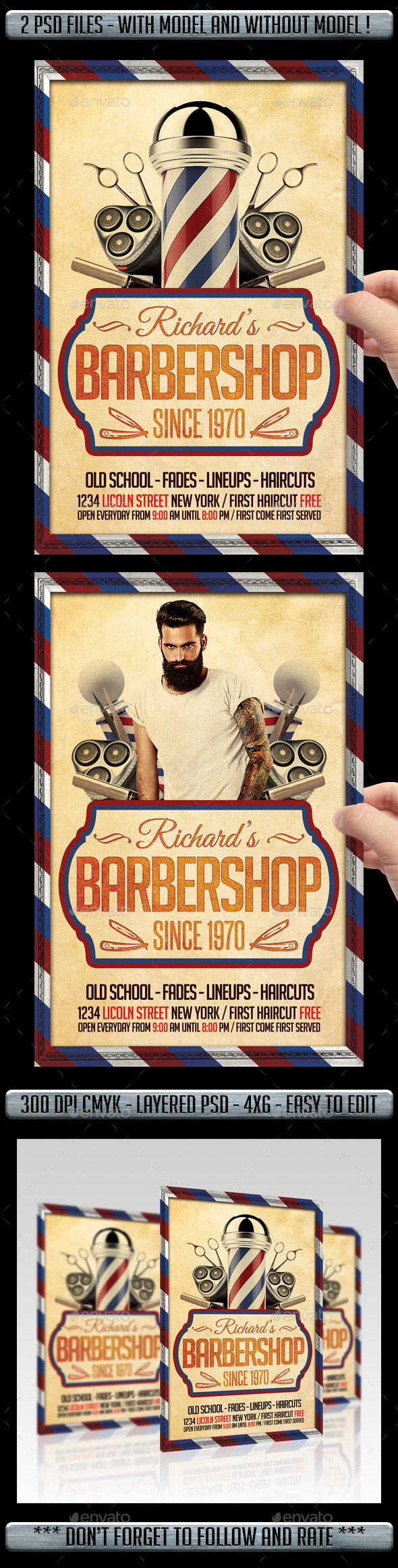 professional barber flyers