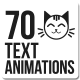 70 Text Animations Pack - VideoHive Item for Sale