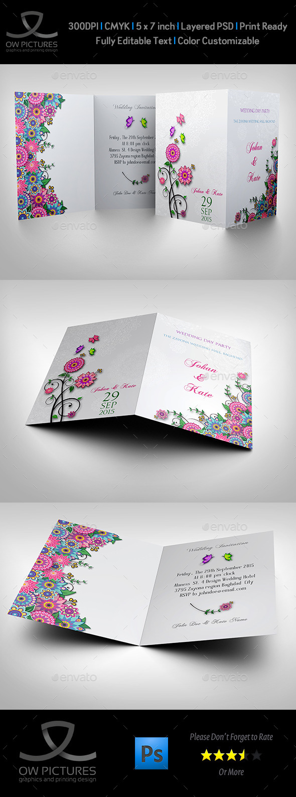 Wedding Invitation Card Template Vol.11 - Weddings Cards & Invites