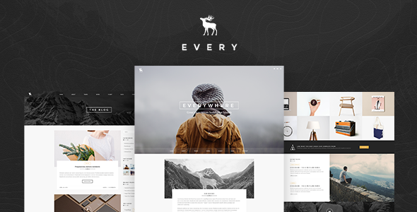 EVERY – Creative Onepage PSD Template