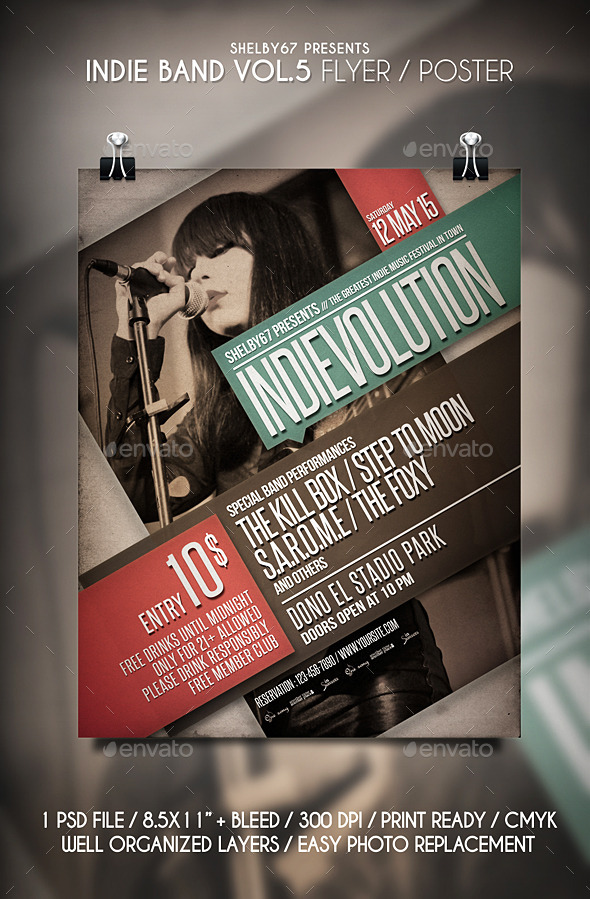 Indie Band Flyer Vol 5 - Events Flyers