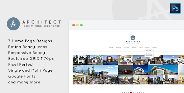Architect - Minimal PSD Template for Architects - Creative PSD Templates