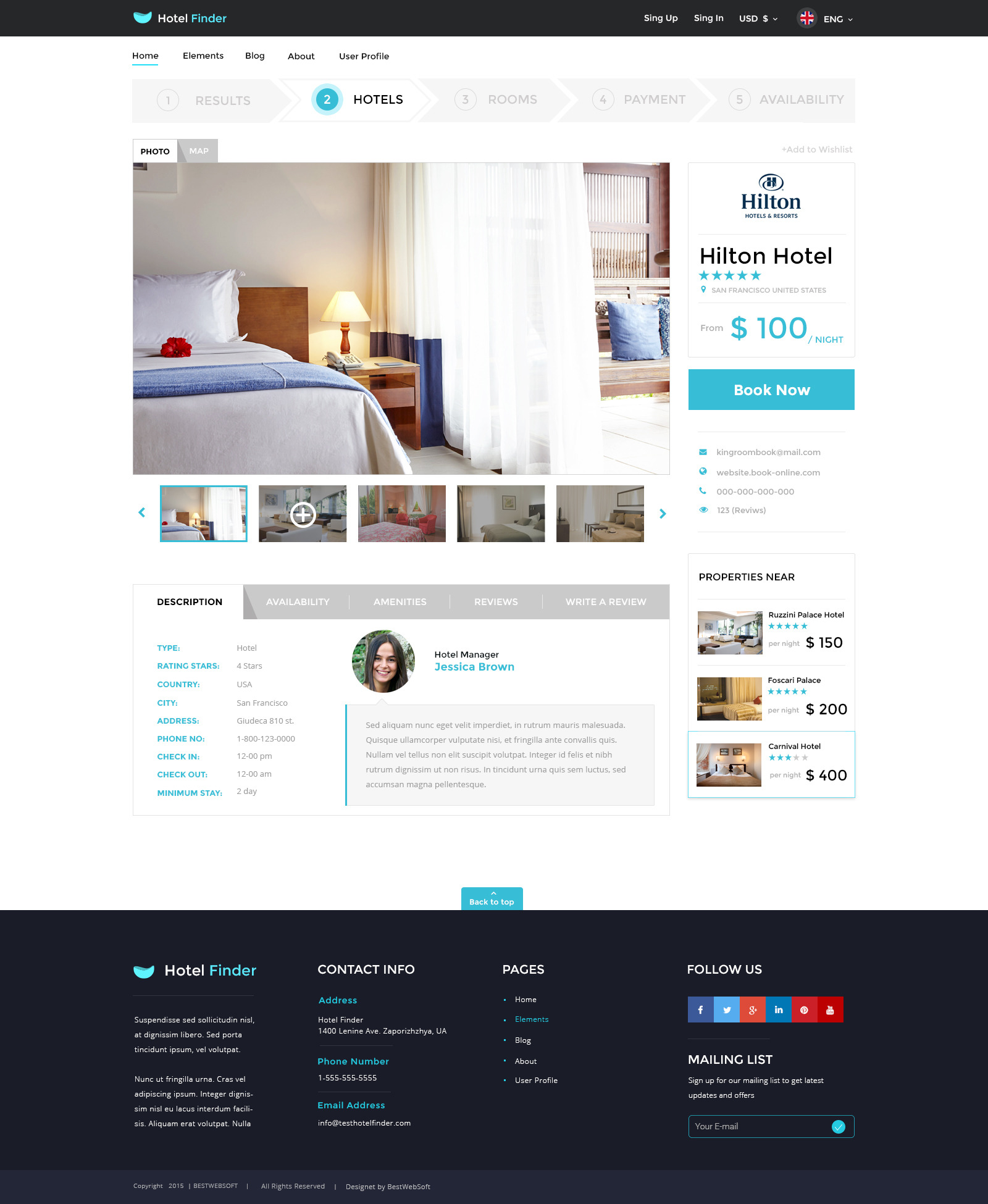 Hotel finder online booking psd template by bestwebsoft for Hotel booking design