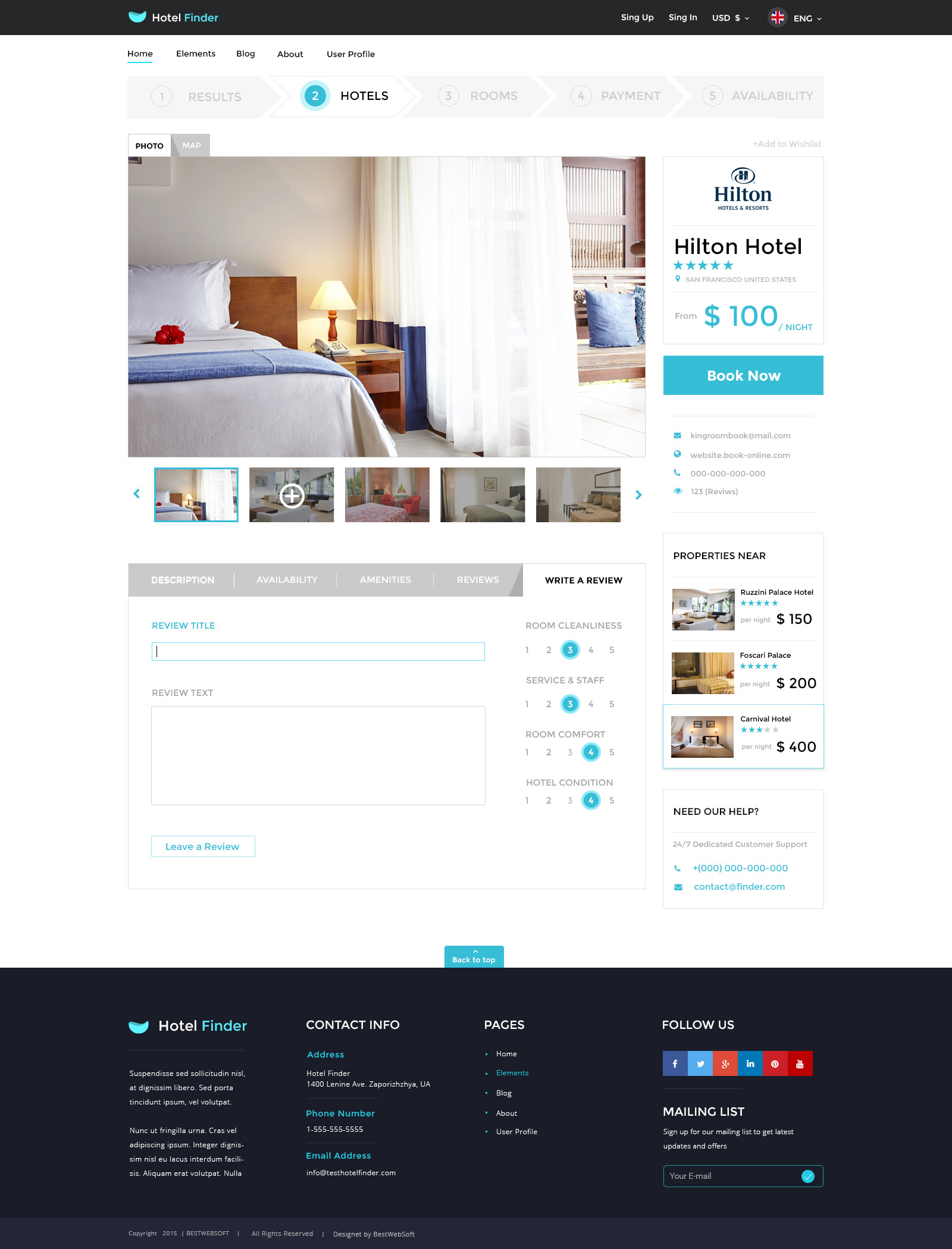 Hotel finder online booking psd template by bestwebsoft jpg10 hotel page 1200 gallery and write a review view v1g pronofoot35fo Choice Image