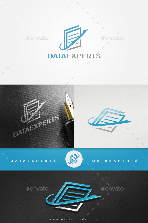 Data Document Expert - Objects Logo Templates