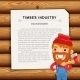 Timber Industry Background with Lumberjack - GraphicRiver Item for Sale