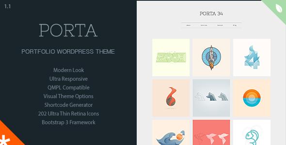 PORTA – Responsive Portfolio WordPress Theme