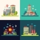 Modern Flat Design Conceptual City Illustrations - GraphicRiver Item for Sale