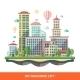 Modern Flat City Illustration - GraphicRiver Item for Sale