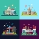 Set of Modern Flat Design Conceptual City - GraphicRiver Item for Sale