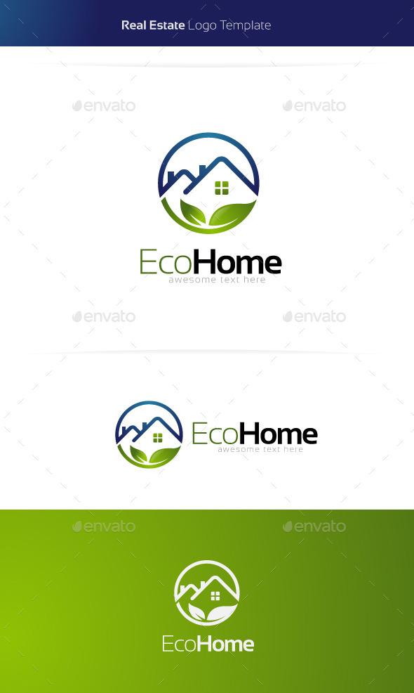 Eco Home Real Estate Logo by 1pointStudio | GraphicRiver
