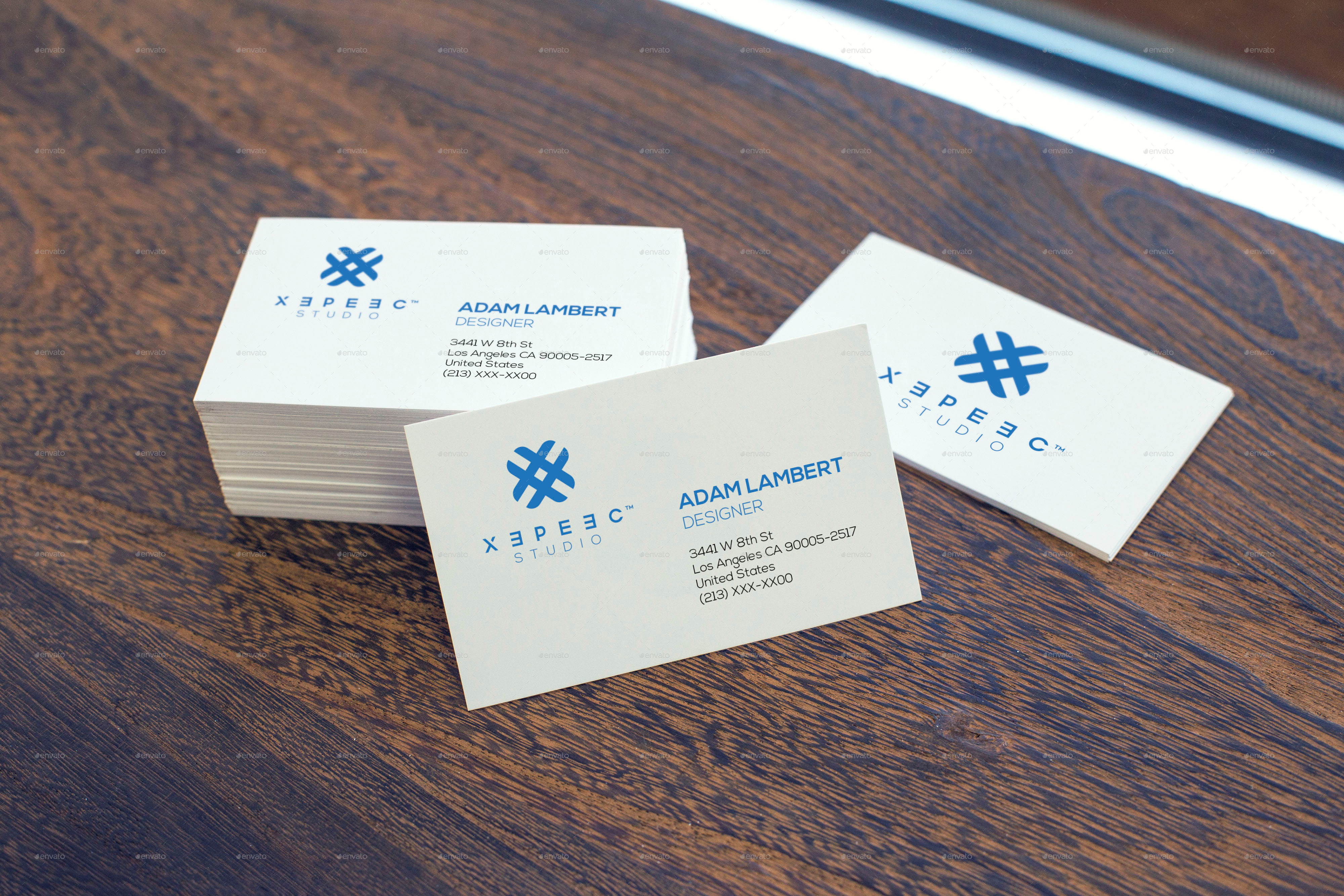 realistic business card mockups by xepeec