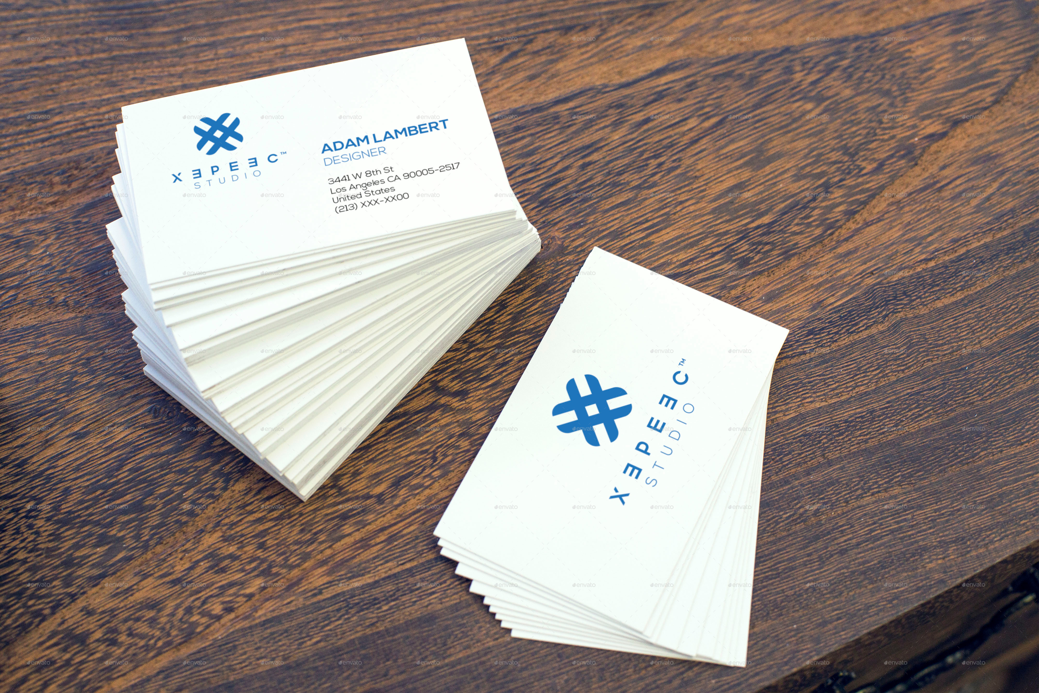 Realistic Business Card Mockups by Xepeec | GraphicRiver