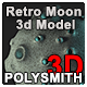 Retro Moon - 3DOcean Item for Sale