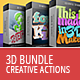 3D Creative Text & Shape Actions - Bundle - GraphicRiver Item for Sale
