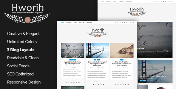 Hworih – A Clean & Responsive WordPress Blog Theme