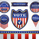 Set of Election and Voting Badges - GraphicRiver Item for Sale