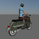 Low Poly Rider - 3DOcean Item for Sale