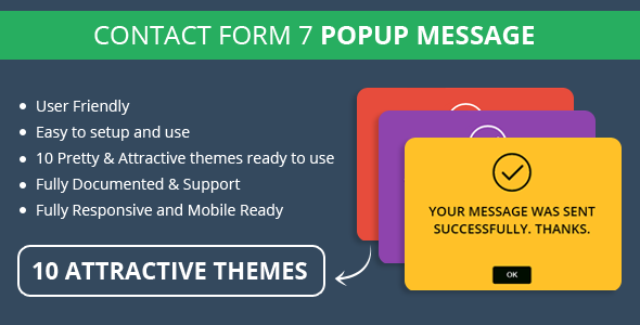 Contact Form 7 Popup Message