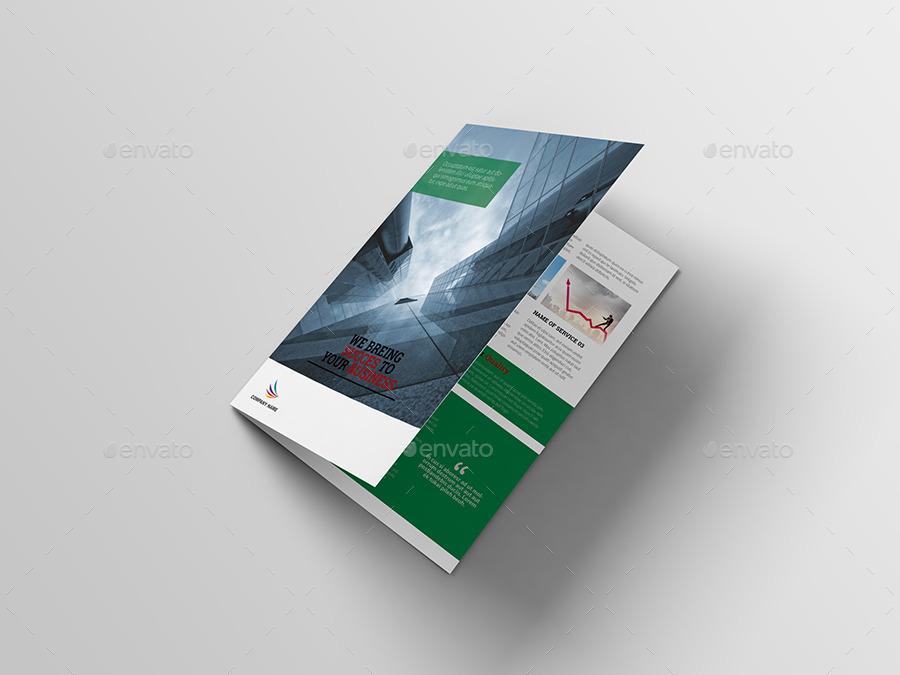 Corporate Bi-Fold Brochure Template by vanroem | GraphicRiver