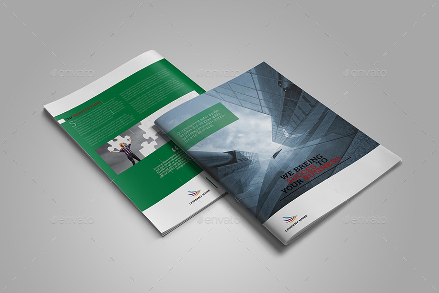 Corporate Bi Fold Brochure Template By Vanroem Graphicriver