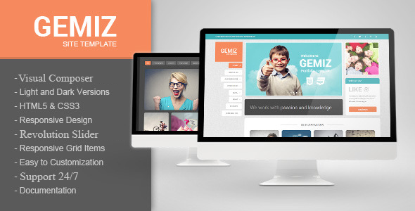 Gemiz - Portfolio WordPress Theme