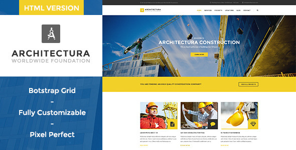 Architectura – Construction HTML Template